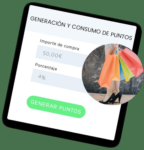 Generación y consumo de puntos
